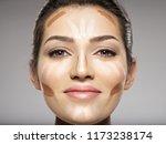 cosmetic makeup tonal... | Shutterstock . vector #1173238174