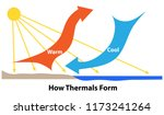 how thermals form. sunlight... | Shutterstock .eps vector #1173241264