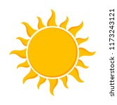 sun   flat design icon. vector... | Shutterstock .eps vector #1173243121