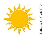 sun   flat design icon. vector... | Shutterstock .eps vector #1173243121