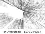 architecture 3d illustration | Shutterstock . vector #1173244384