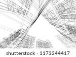 architecture 3d illustration | Shutterstock . vector #1173244417