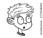 surprised boy cartoon...   Shutterstock .eps vector #1173248494