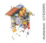 construction concept. building... | Shutterstock . vector #1173252091