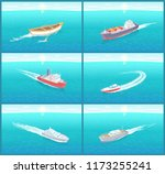 water transport  ships cruise...   Shutterstock .eps vector #1173255241
