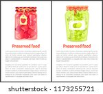 olives and strawberries... | Shutterstock .eps vector #1173255721