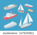 water transport traveling... | Shutterstock .eps vector #1173255811