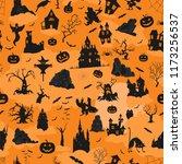 halloween holiday seamless... | Shutterstock .eps vector #1173256537