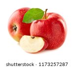 red apples with slice | Shutterstock . vector #1173257287