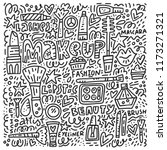 black and white doodle... | Shutterstock .eps vector #1173271321