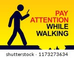 pay attention while walking | Shutterstock .eps vector #1173273634