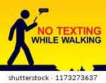 pay attention while walking | Shutterstock .eps vector #1173273637