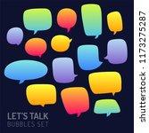speech bubble talk traditional... | Shutterstock .eps vector #1173275287