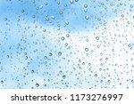 water drops on glass or rain...   Shutterstock . vector #1173276997