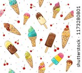 seamless background  with set... | Shutterstock .eps vector #1173280801