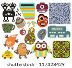 mix of different vector images... | Shutterstock .eps vector #117328429