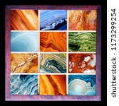 top collection of natural stone ... | Shutterstock . vector #1173299254