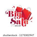 festival big sale text... | Shutterstock .eps vector #1173302947