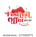 festival offer text typography... | Shutterstock .eps vector #1173302971