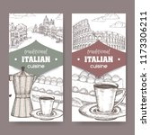 set of two traditional italian... | Shutterstock .eps vector #1173306211