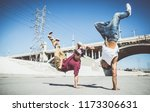 Breakdancers Performing In A...
