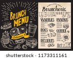 brunch restaurant menu on... | Shutterstock .eps vector #1173311161