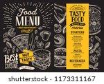 food menu vector restaurant...   Shutterstock .eps vector #1173311167