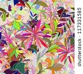 seamless vector floral pattern. ... | Shutterstock .eps vector #117331585