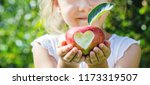 Child With An Apple. Selective...