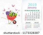 lovely gardening. calendar for... | Shutterstock .eps vector #1173328387