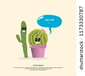 cute character cartoon cactus... | Shutterstock .eps vector #1173330787