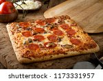 a delicious square crust... | Shutterstock . vector #1173331957
