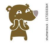 flat color style cartoon bear...   Shutterstock .eps vector #1173333364