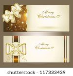 greeting cards with white bow.... | Shutterstock .eps vector #117333439
