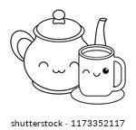 kawaii coffee mug | Shutterstock .eps vector #1173352117