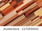 copper rolled metal products.... | Shutterstock . vector #1173354421