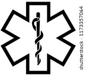 medical symbol of the emergency ... | Shutterstock . vector #1173357064