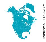 map of north america | Shutterstock .eps vector #1173361924
