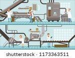 process of caramel and... | Shutterstock .eps vector #1173363511