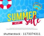 hello summer greeting card ...   Shutterstock .eps vector #1173374311