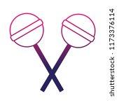 sweet lollipops crossed... | Shutterstock .eps vector #1173376114