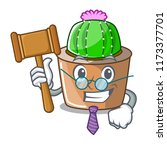 judge mascot star cactus...   Shutterstock .eps vector #1173377701