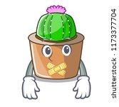 silent mascot star cactus...   Shutterstock .eps vector #1173377704