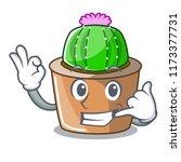 call me mascot star cactus...   Shutterstock .eps vector #1173377731