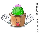 tongue out mascot star cactus...   Shutterstock .eps vector #1173377734