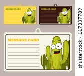 set of vector message cards... | Shutterstock .eps vector #117337789