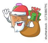 santa with gift mascot star...   Shutterstock .eps vector #1173380791