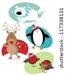 Christmas Fun Animals Four...