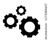 three gears solid icon.... | Shutterstock .eps vector #1173383647