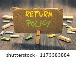 writing note showing return... | Shutterstock . vector #1173383884